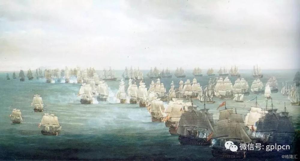 ▲特拉法加海战中