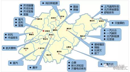 【干货】一文看懂中国最全汽车主机厂产能分布